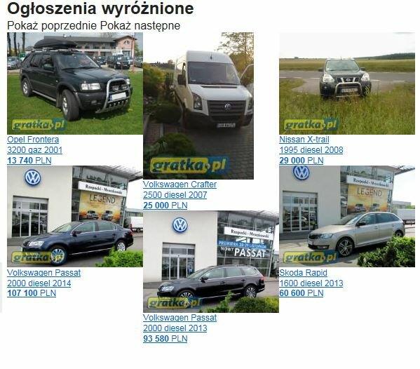 польские авто сайты: