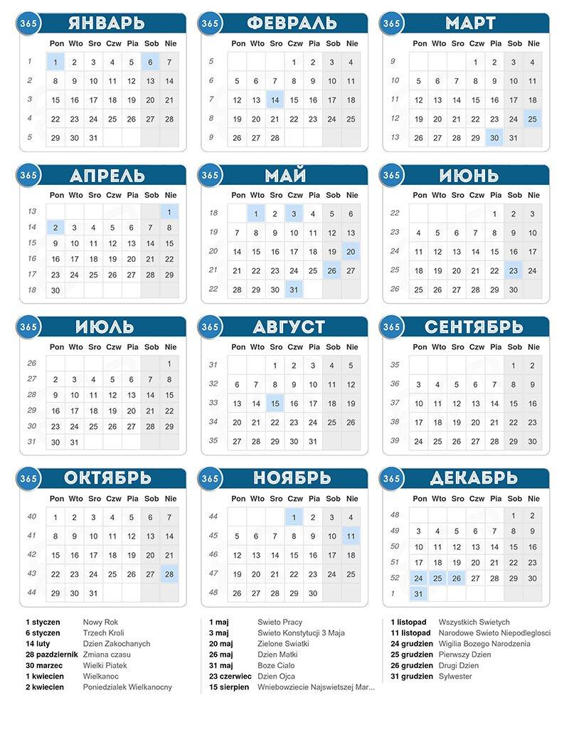 Календарь праздников в Польше на 2018 год